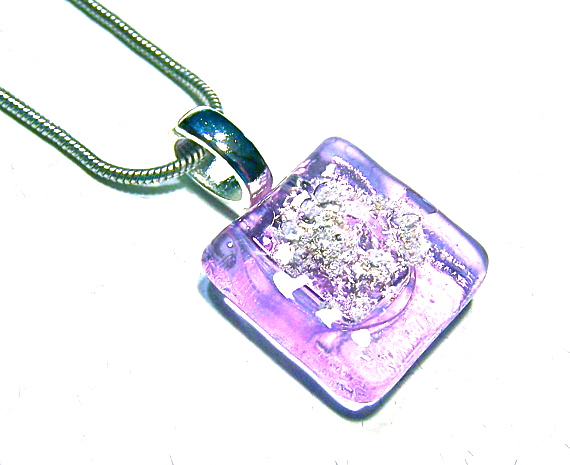 Hayden brook memorials cremation jewelry keepsakes something stained glass window cremation ashes memorial pendant purple violet jewelry aloadofball Choice Image