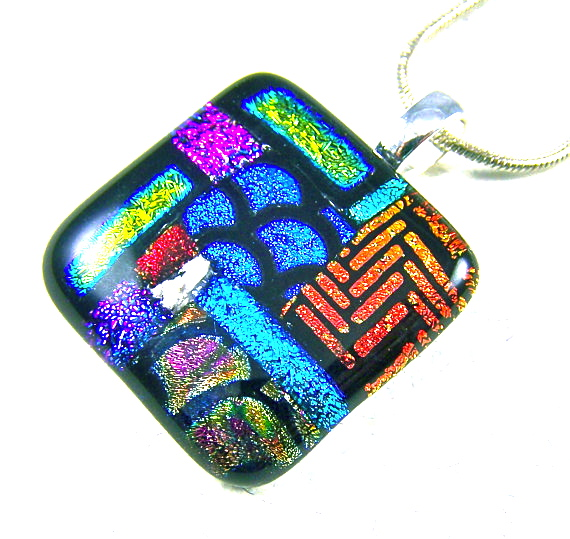 Hayden brook memorials cremation jewelry keepsakes something memorial cremation ashes pendant ooak dichroic glass patchwork color block custom jewelry aloadofball Gallery