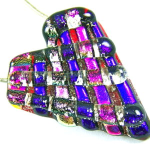 Heart Ashes Cremation Memorial Pendant - Chunky Red Pink Purple